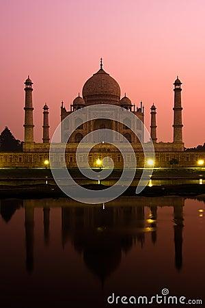 Taj Mahal at dusk