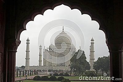 Taj Mahal Framed in Mughal Arch