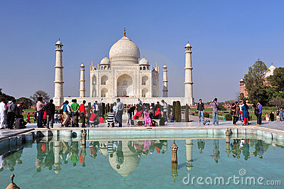 Taj Mahal India Editorial Photography
