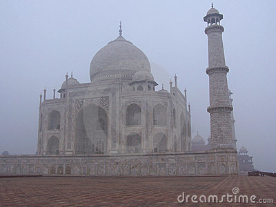 Taj Mahal, India caught in morning mist