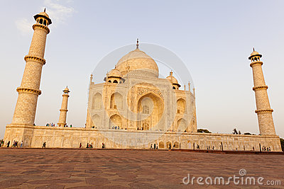 Taj Mahal in late sun Agra in India Editorial Photography