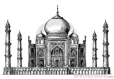 Taj Mahal Logo Design Template India Or Hindu Stock Vector Image 50600350