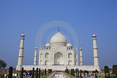Taj Mahal mausoleum in Agra, India Editorial Stock Image