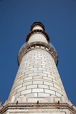 Taj Mahal Minaret in Agra India