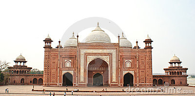 The Taj Mahal Mosque, Agra,India Editorial Stock Photo