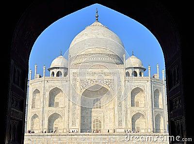 Taj Mahal at Sunrise, India Editorial Stock Image