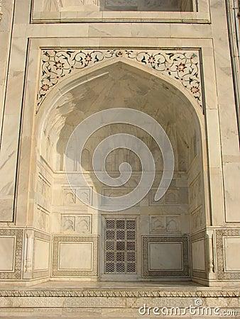Taj Mahal tomb detail