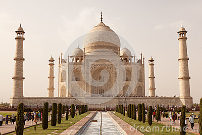 Taj Mahal view Agra in India Editorial Image