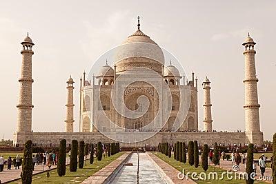 Taj Mahal view Agra in India Editorial Image