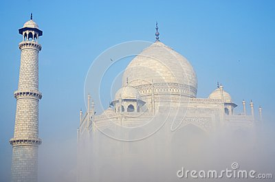 Taj Mahal view in a haze,great monument,UNESCO Heritage
