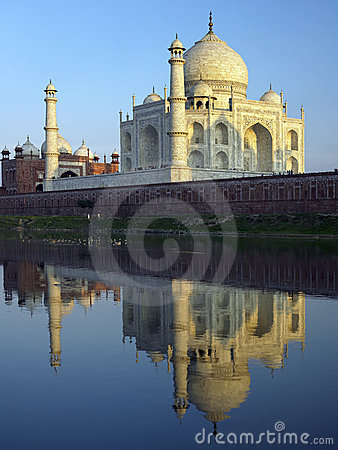 Taj Mahal - Yamuna River - Agra - India