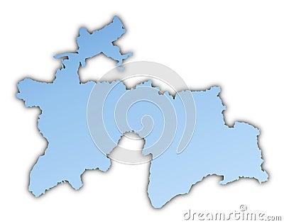 Tajikistan map