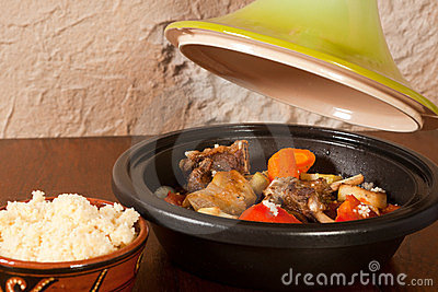 Tajine dish on the table