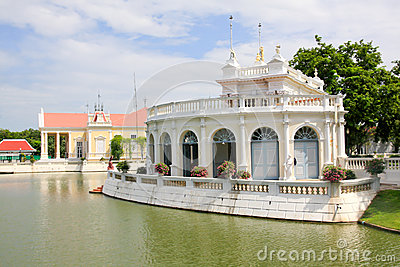 Tajlandzka Królewska siedziba przy uderzeniem w Royal Palace