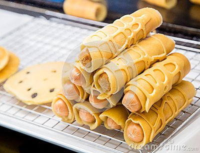 Tajlandzki steet jedzenie - kiełbasa
