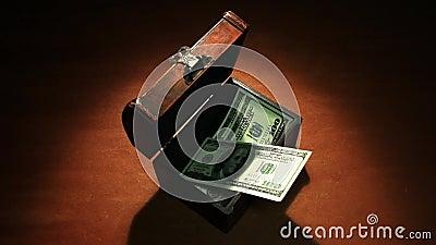 Tajny zysk Dużo pieniądze banknotów 100 dolarów zbiory