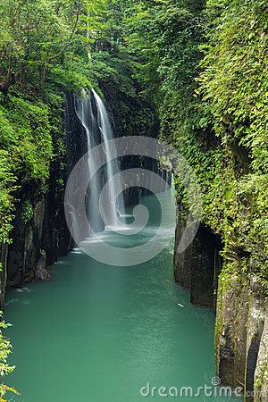 Free Takachiho Gorge And Waterfall In Miyazaki, Japan Stock Images - 87745524