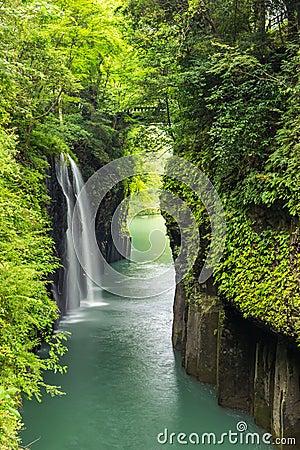 Free Takachiho Gorge And Waterfall In Miyazaki, Kyushu, Japan Stock Photography - 91733032