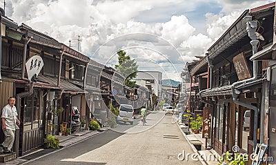 Takayama, япония Редакционное Стоковое Изображение