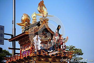 Takayama festival: puppets on majestic float Editorial Stock Photo
