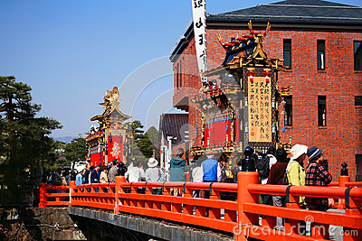 Takayama majestic floats and puppets festival Editorial Photo
