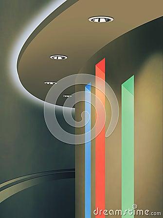 Takbelysning : Ledd takbelysning arkivfoto bild