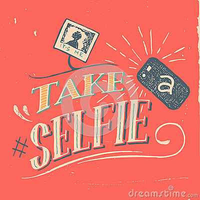 Free Take A Selfie Poster Stock Images - 46883444