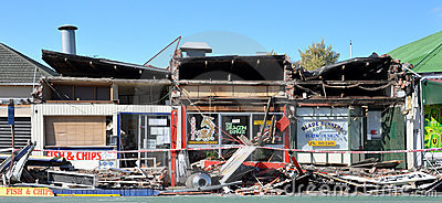 Take-away Hell, Christchurch Earthquake Damage Editorial Photography