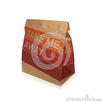 Free Take Away Paper Bag Stock Images - 38476234