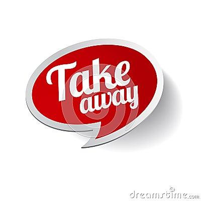 Take away sticker label