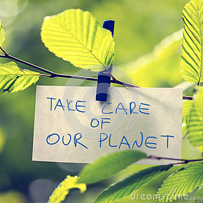 Free Take Care Of Our Planet Royalty Free Stock Photo - 42817555