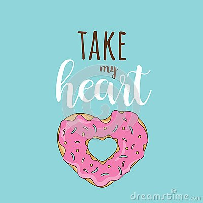Free Take My Heart Vector February 14 Stock Photo - 109984410