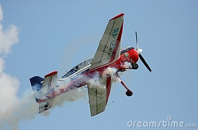 Take off the sports-flight plane Yak-54 Editorial Stock Photo