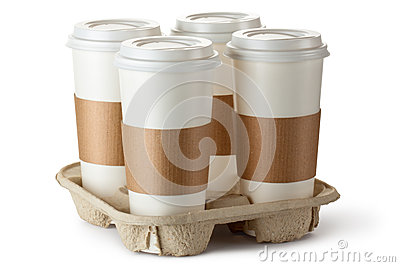 Take-out кофе 4 в держателе