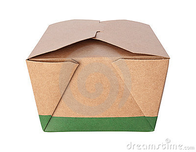 Take-Out Box (with clipping path)
