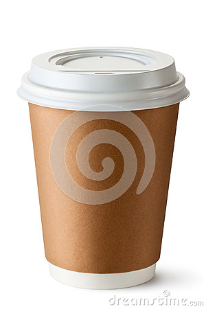 Take-out coffee in thermo cup Stock Photo