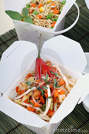 Free Take Out Noodles Stock Images - 14374784