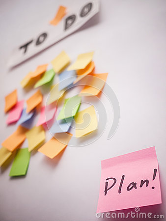 Take plan for the to do list Stock Photo