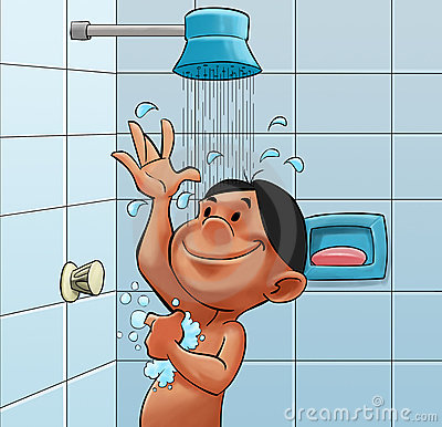 Take A Shower Royalty Free Stock Image - Image: 19429306