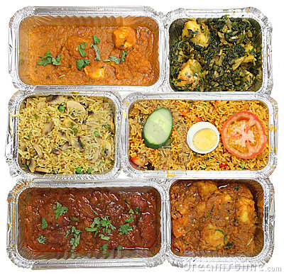 Takeaway выбора еды карри индийский