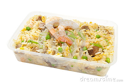 Takeaway Chinese Food Special Fried Rice Stock Photo - Image: 25458620