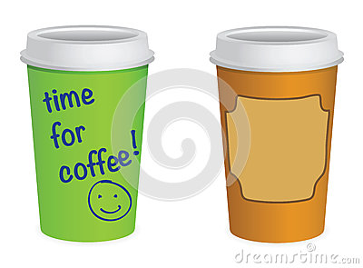 Takeaway coffe cups