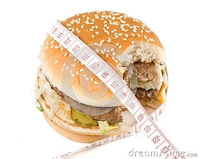 The taken a bite hamburger