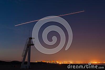 Takeoff at night