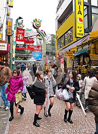 Free Takeshita Shopping Street At Harajuku ,Tokyo Stock Photos - 21101623