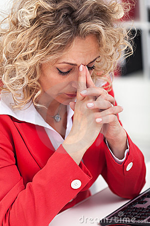 Free Taking A Moment In The Office Royalty Free Stock Photo - 22265635