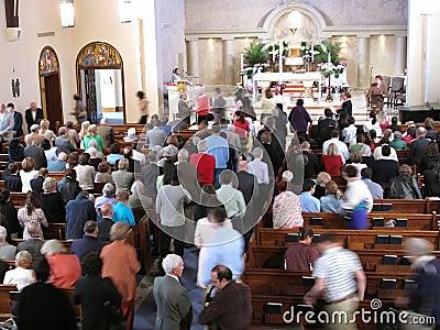 Taking Communion Editorial Image