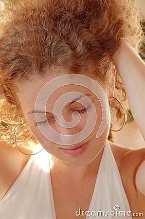 Taking hair up