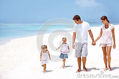 Taking a long beach walk