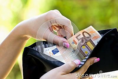 Taking money